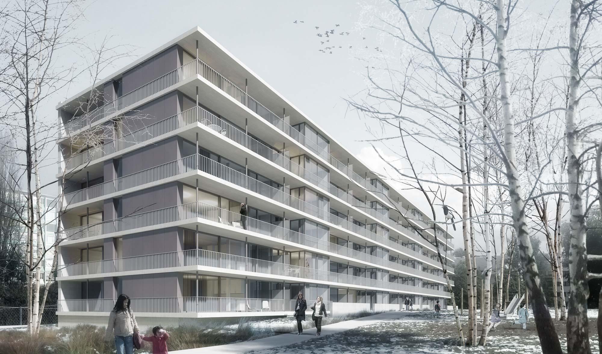 Construction d'un immeuble d'habitation THPE